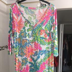 Lilly Pulitzer Palmetto V-neck T-shirt dress, L